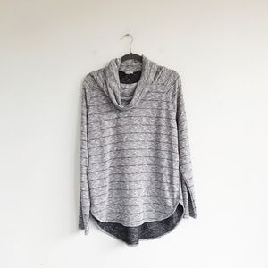 LOFT Outlet Heather Gray Cowl Neck Sweater